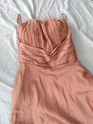 Vestido Toque de Seda longo