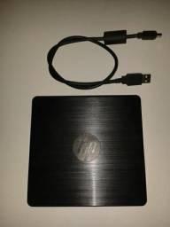 Gravador de DVD externo Hp GP60NB60 pouquíssimo uso
