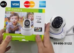 Nova Camera Ip Original com 3 antenas, monitoramento remoto, produto novo-Ac cartão