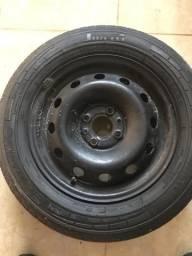 Pneu e roda step aro 14 pneu pirelli