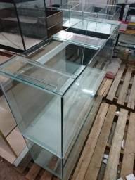 Aquário 100x30x50 150litros vidro 6mm