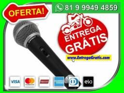 Microfone Profissional M58 + Cabo'Bom-entreg0-gratiis