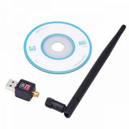 Antena Adaptador Wireless Usb Sem Fio Antena Wifi 300mbps