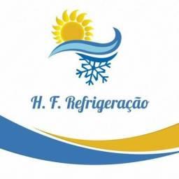 H.F. Refrigeração/ Limpeza, Instalação, Carga de Gás