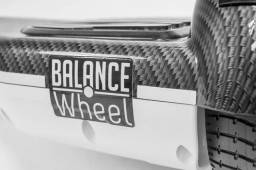 Hoverboard balance wheel branco e carbono