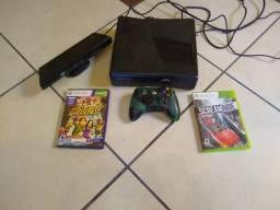 XBOX 360 + kinect + jogo adventures R$400,00
