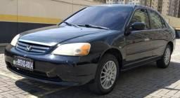 Honda Civic LX 1.7 Completo 2001/2001 Parcelo no Cartão de Credito - 2001