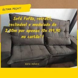 Sofá retrátil e reclinável!!