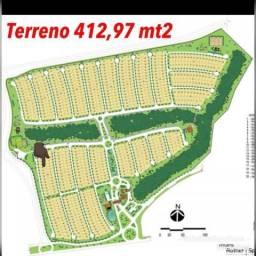 Terreno no Condomínio Florais da Mata à venda, 412 m² - Petrópolis - Várzea Grande/MT