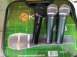 Kit com Três Microfones