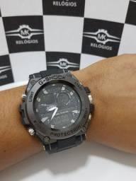 Relógio masculino g-shock caixa de aço