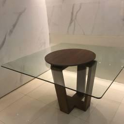 Mesa de jantar  1,40x1,40 vidro 12mm