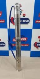 R$: 620 / Bomba d?agua Submersa de (2,5) polegadas, 1/4HP , cano 75mm, joga ate 32 metros