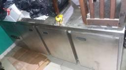 Balcão(refrigerador) horizontal inox