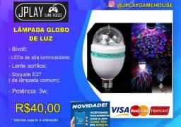 Lâmpada jogo de luz giratória