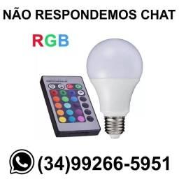 Título do anúncio: Lâmpada Bulbo Led RGB Colorida c/ Controle * Fazemos Entregas
