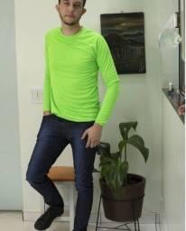 camiseta manga longa  dry fit com proteção  ultra violeta