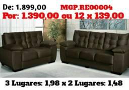 Sofa de 2 e 3 Lugares- Sofa Fixo- Sofa Barato- Promoção em Maring