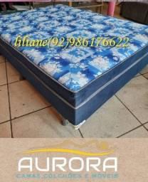 Título do anúncio: cama casal ** cama casal *** 2 travesseiros de brinde))***(((