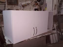 armário de cozinha na cor branco texturizado(novo)