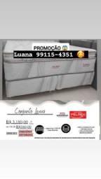 Título do anúncio: Cama Super King lexus dupla camada de pillow top Entrega grátis