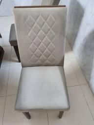 Cadeiras de Jantar com Estofado