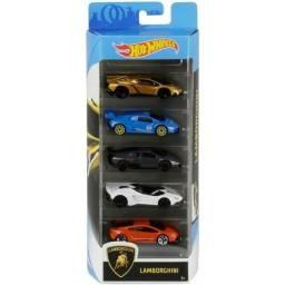 Título do anúncio: Hot Wheels Lamborghini Pack com 5 carrinhos