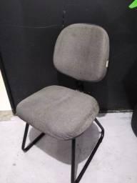 Título do anúncio: Cadeira Secretária Cinza Fixa