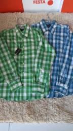 Camisa botão manga longa com 50% de desconto