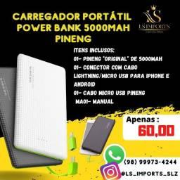 Carregador Portátil Pineng 5000MAH (ENTREGA GRÁTIS)