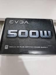 Título do anúncio: Fonte EVGA 500W 80 Plus White