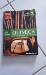 Livros de química, física e biologia