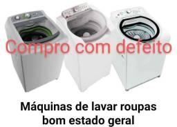 Máquina de lavar com defeitos