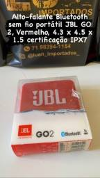 Alto-falante Bluetooth sem fio portátil JBL GO 2, Vermelho