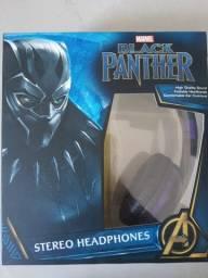 Fone de Ouvido Pantera Negra Importado Eua Novo.
