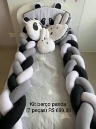 Kit berço ou cama infantil do panda
