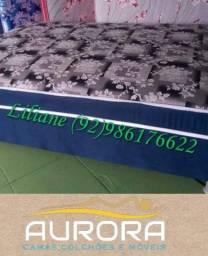 Título do anúncio: cama casal \ 2 travesseiros de brinde(**&&))(