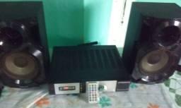 Mini   System   200wats   montado   com   2   caixas