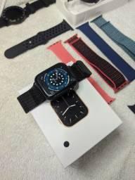 Smartwatch W46+uma pulseira de brinde