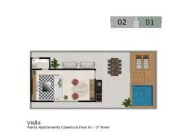 Título do anúncio: Cobertura à venda, 3 quartos, 1 suíte, 2 vagas, Fernão Dias - Belo Horizonte/MG