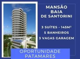 |Patamares| Mansão Baia de Santorini - 3 suítes, 145 m², varanda