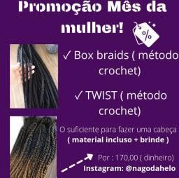 PROMOÇÃO DE BOX BRAIDS E TWISTS