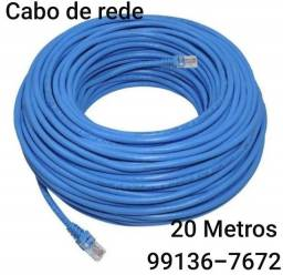 Título do anúncio: Cabos de rede para internet de 20 metros r$65,00 reais