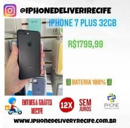 Título do anúncio: IPhone 7 Plus 32gb Preto (12 X Sem Juros) Entrega Grátis