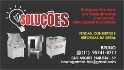 Manutenção Conserto Fornos /masseiras / cilindros/modeladora/pizzaria