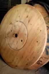 Bobina e Tampo de bobina para mesa rústica