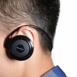 Fone Bluetooth, lacrado na embalagem, atende celular, cartão de memória, faço entrega