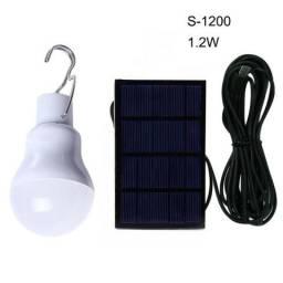 Lâmpada Recarregável Energia Solar S-1200 Led Acampamento
