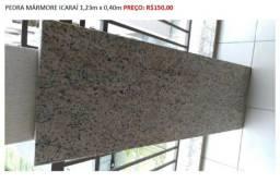1 Pedra Mármore Lisa Icaraí 1,23m x 0,40m. PREÇO: R$150,00