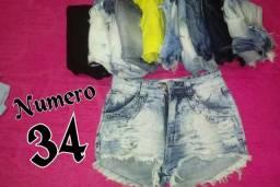 Bazar De Shorts Femininos 10 Reis Cada Peça